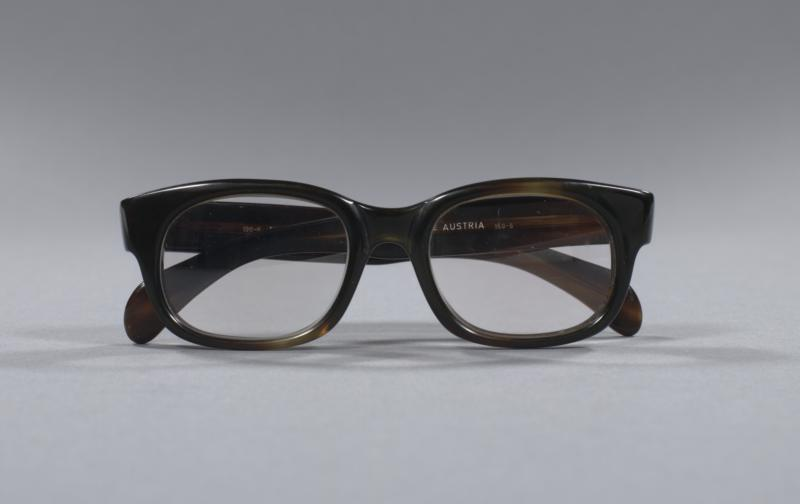 Black glasses owned by Tennessee Williams at the time of his death