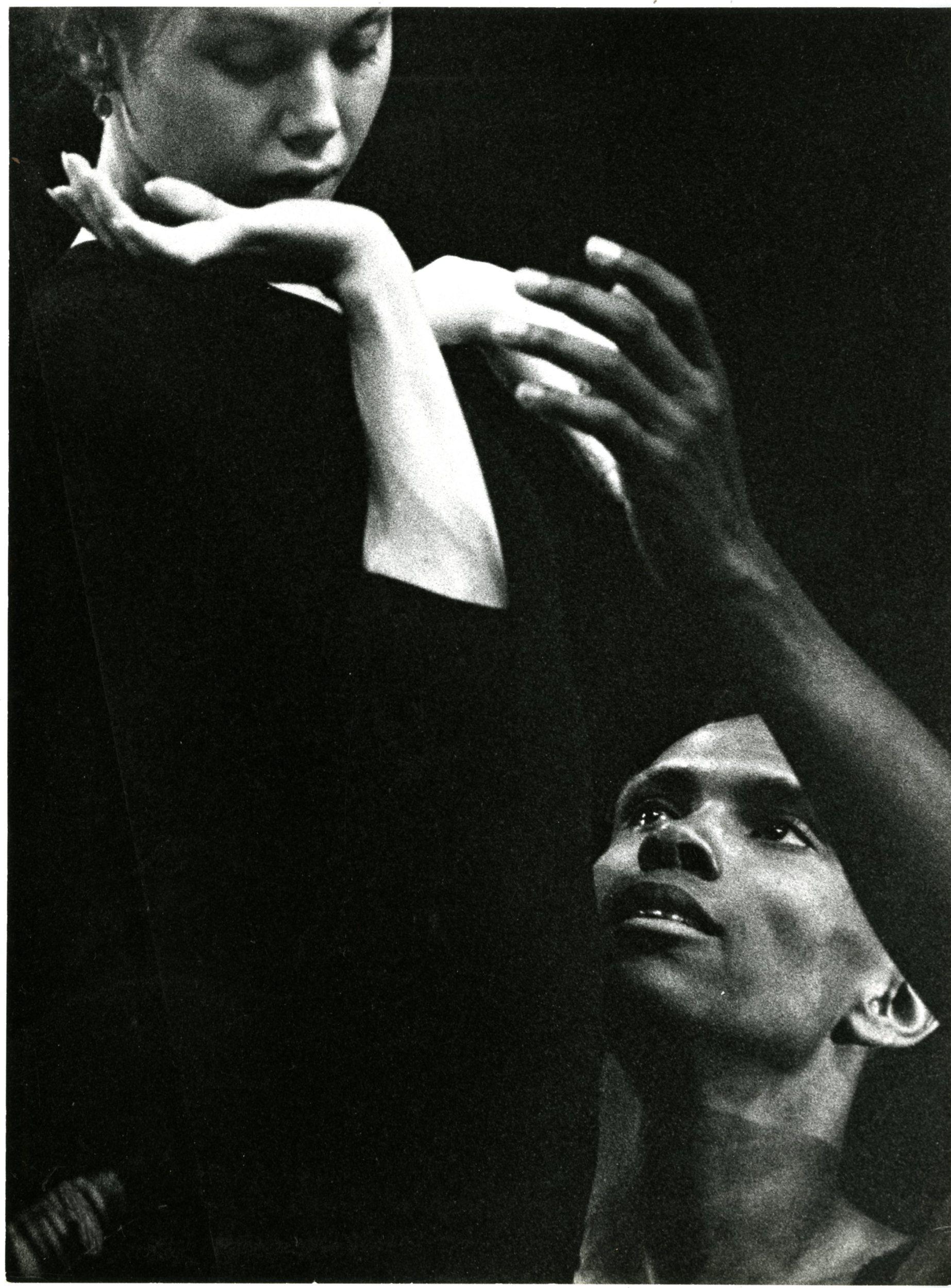 "Arthur Mitchell and Allegra Kent rehearsing the ""Agon"" pas de deux"