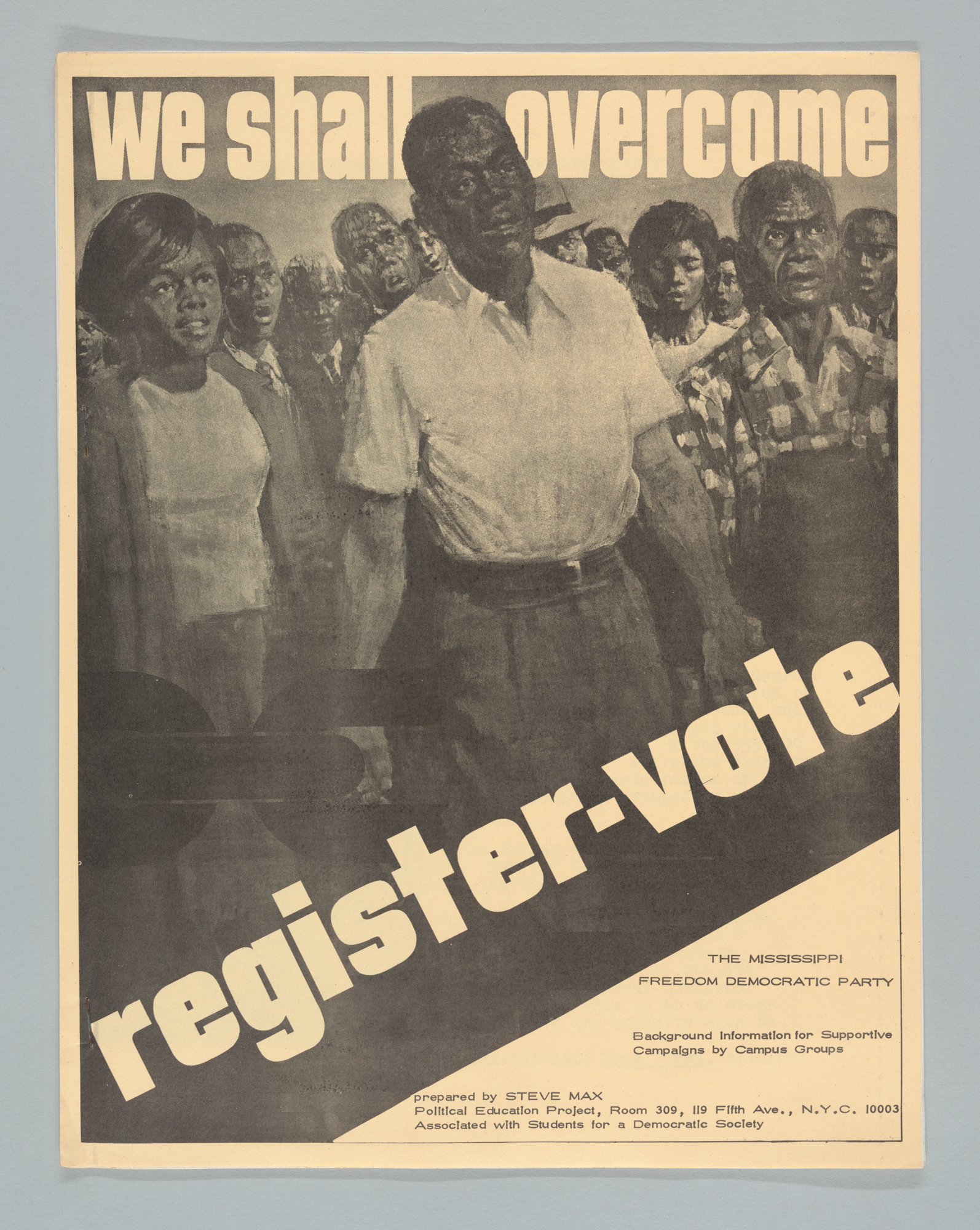 We Shall Overcome, Background Information for Supportive Campaigns by Campus Groups, Front Cover
