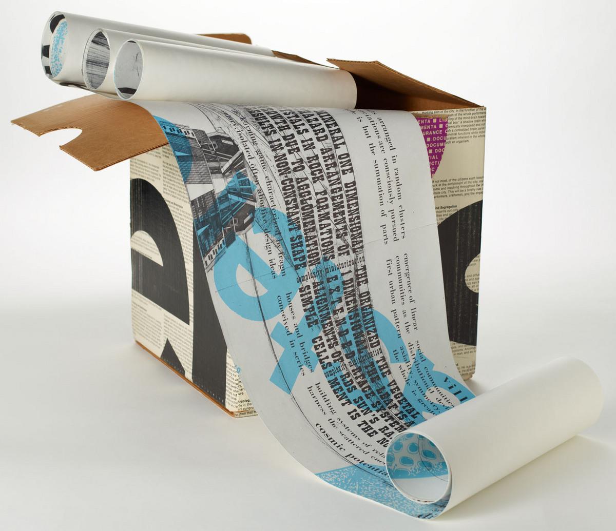 Documenta; the Paolo Soleri retrospective. Unrolled illustration with case