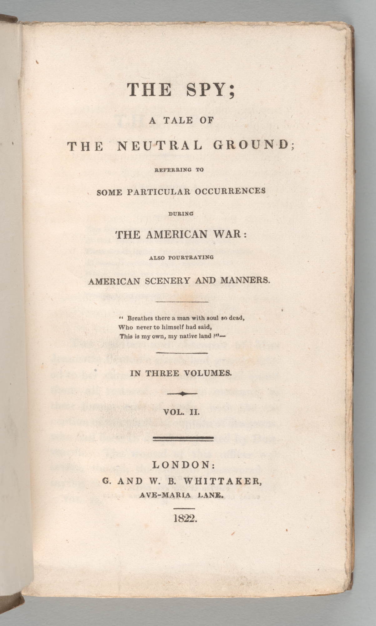 The Spy, title page