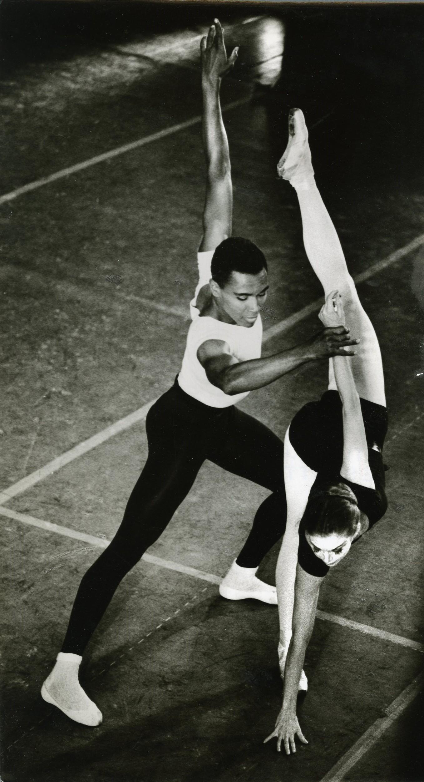 "Arthur Mitchell and Allegra Kent in the ""Agon"" pas de deux"