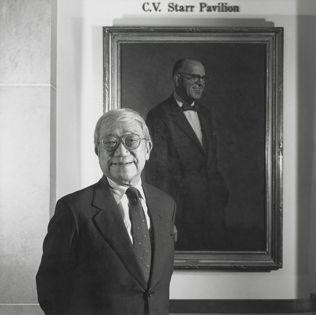Ta Chun Hsu with Portrait of Starr