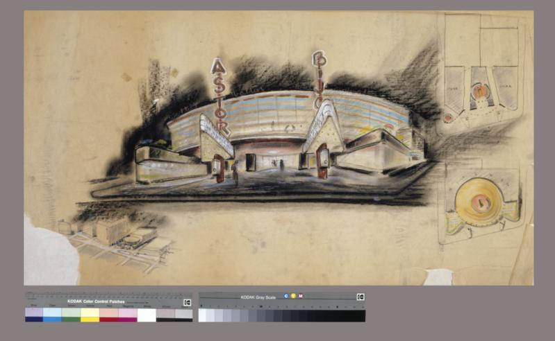 Drawing, Dowling Theater, Times Square, New York City