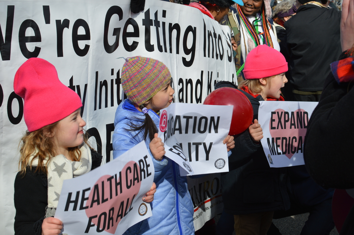 Union Children in the Moral March in Raleigh, NC