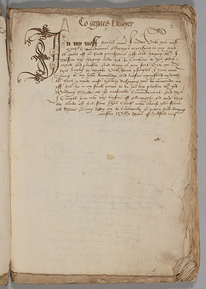 Sixteenth-century Commonplace Book, Folio 3r