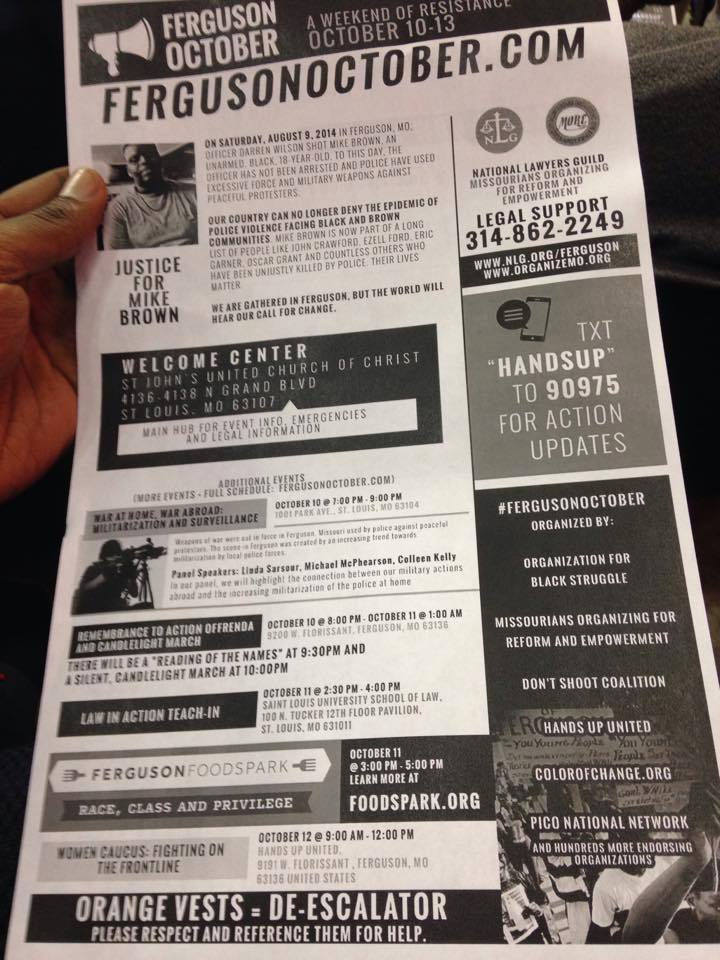 Flyer at Ferguson