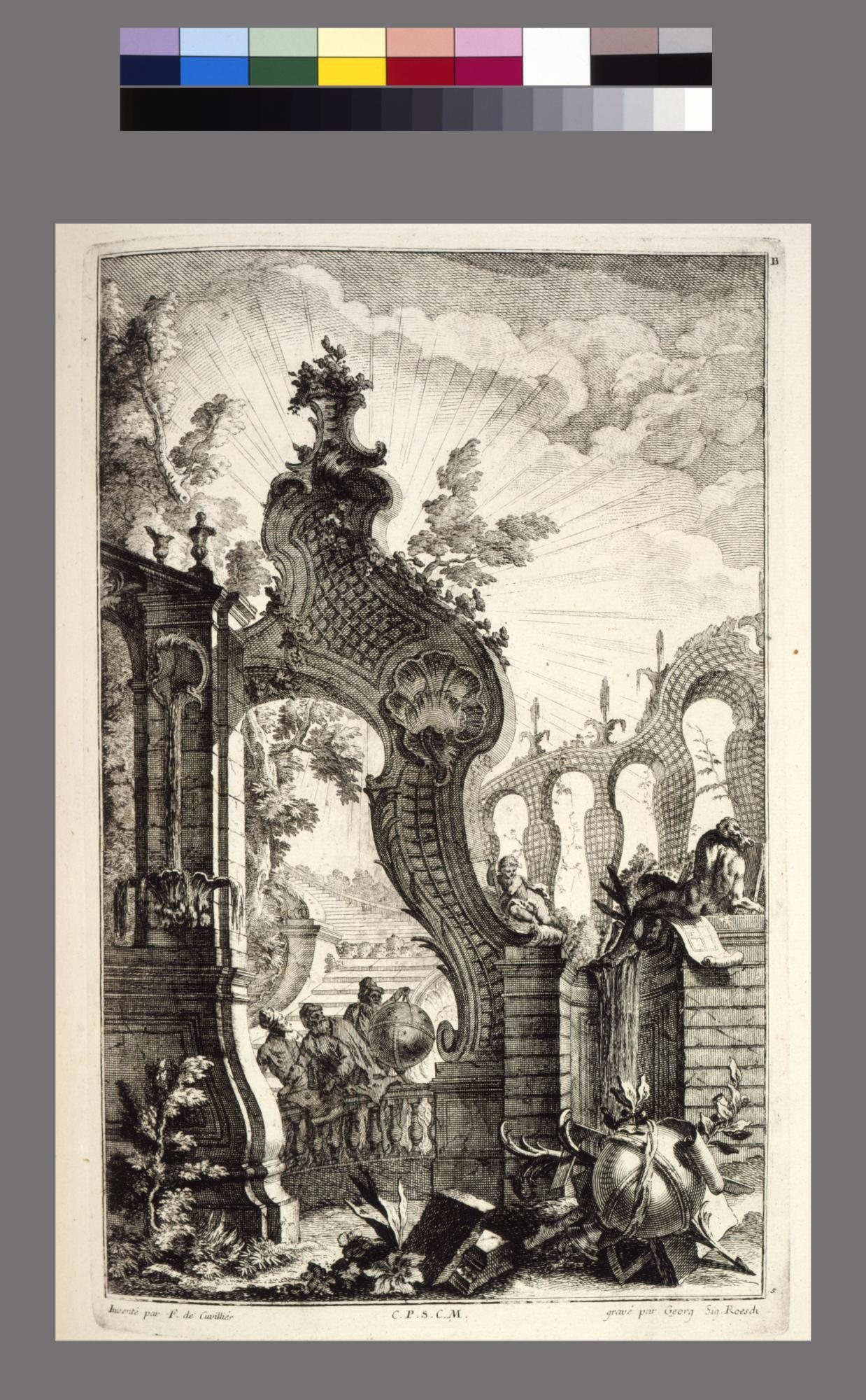 Collection of engravings after the designs of François de Cuvilliés, the elder and his son, François the younger (1731-1777)