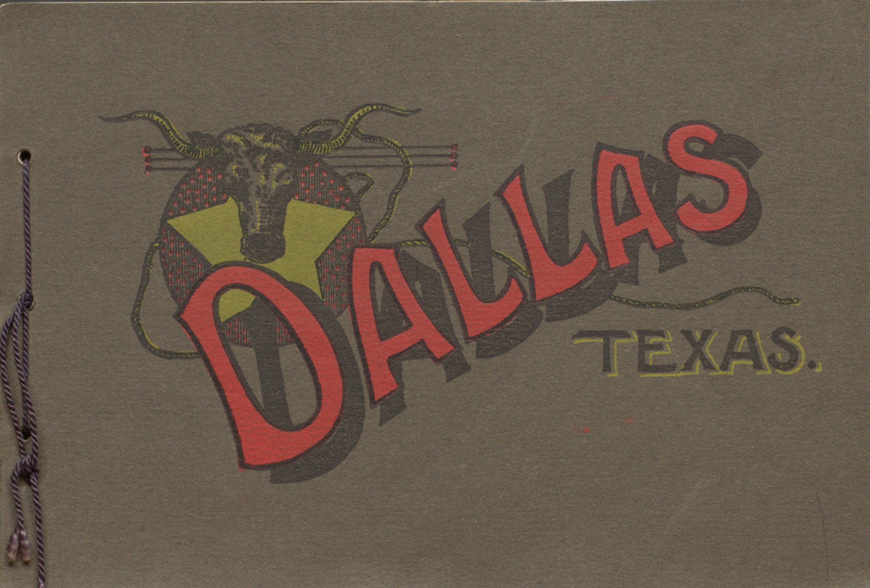 Album of Beautiful Colored Views of Dallas, Texas. Cover.