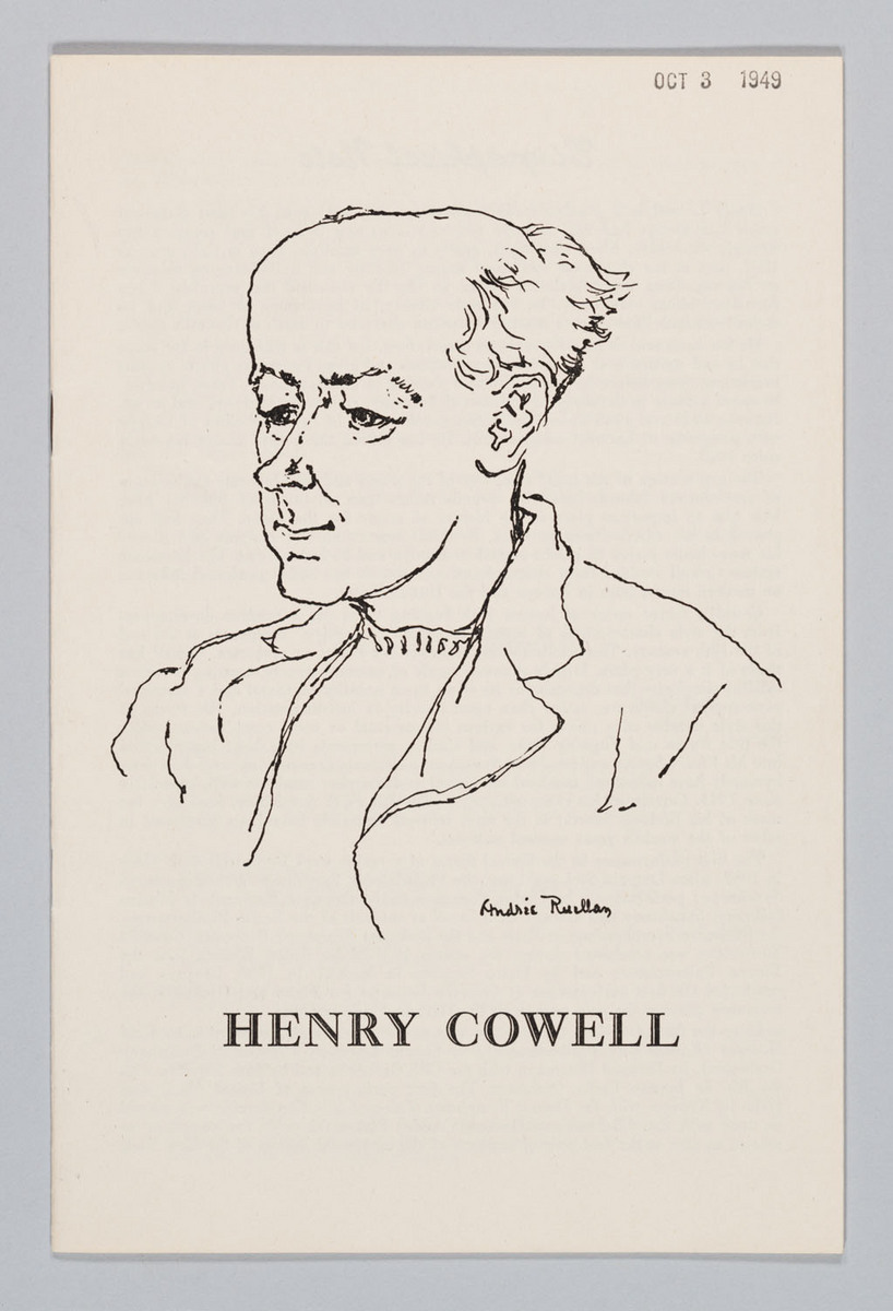 Henry Cowell, Cover