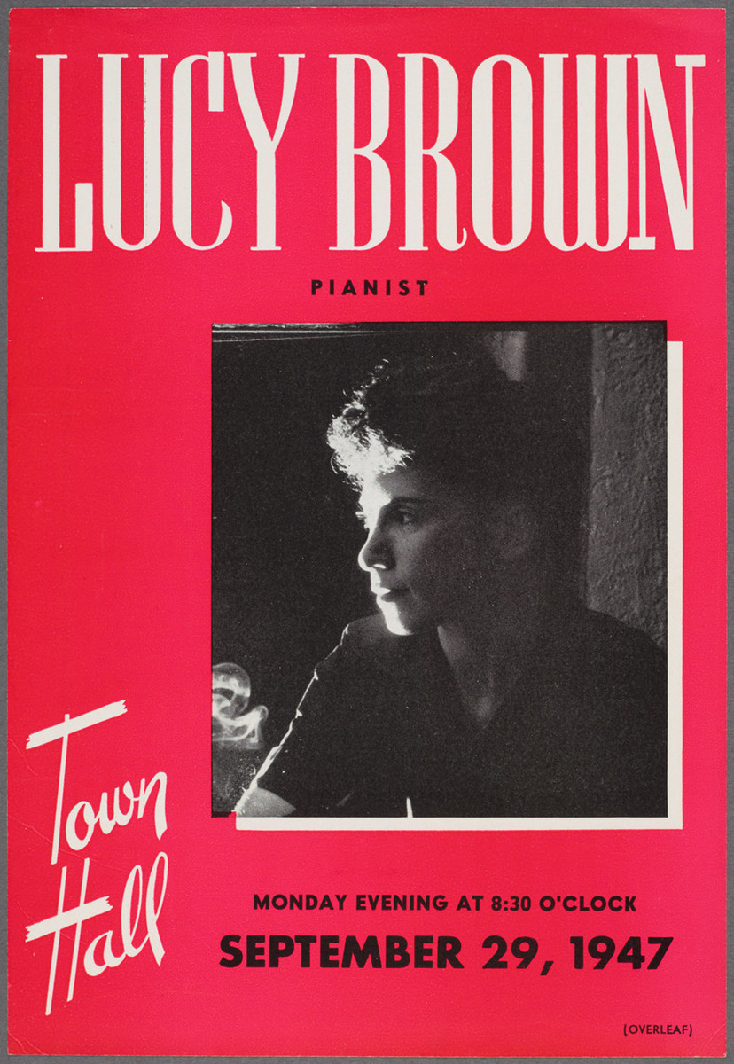 Lucy Brown program, recto