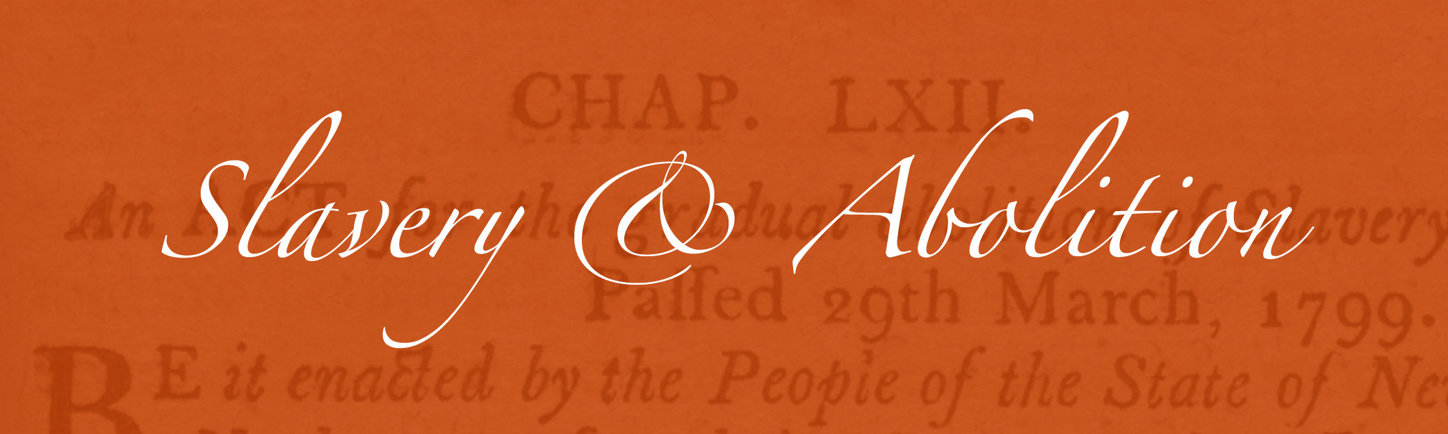 Slavery & Abolition Banner