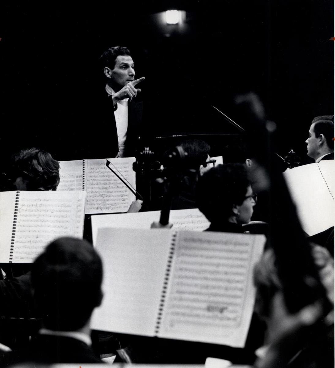 Howard Shanet Conducting University Orchestra