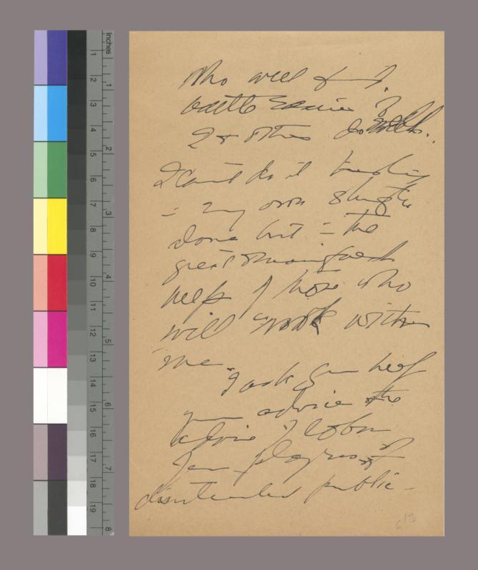 Draft notes of reply to F. D. Roosevelt on her nomination to the Cabinet