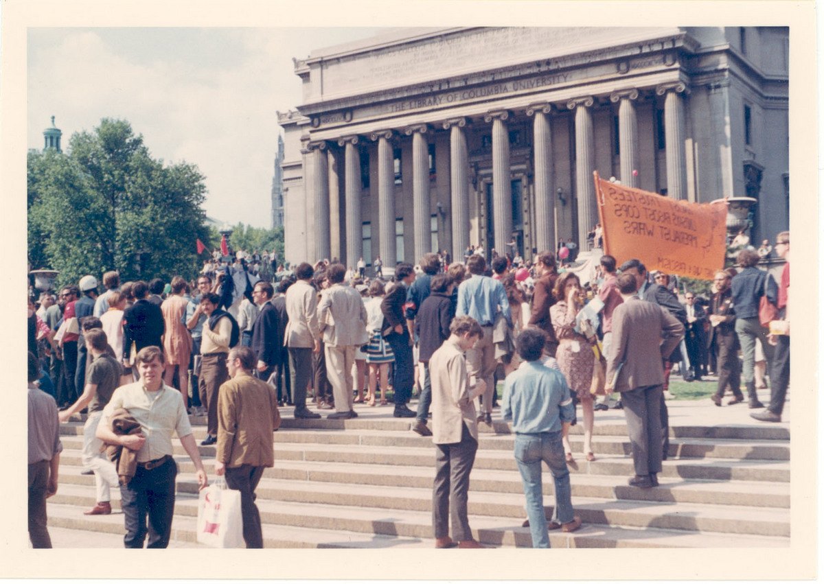 1968 Counter Commencement - People on Steps<br />