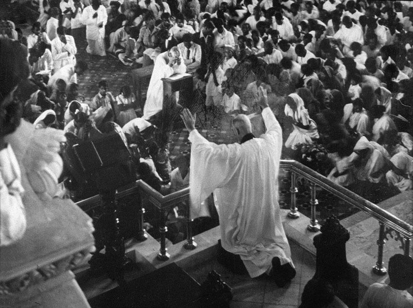 Church of South India is Born. Scene 4: bishop praying
