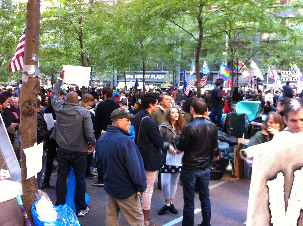 Occupy Wall Street in Zuccotti Park