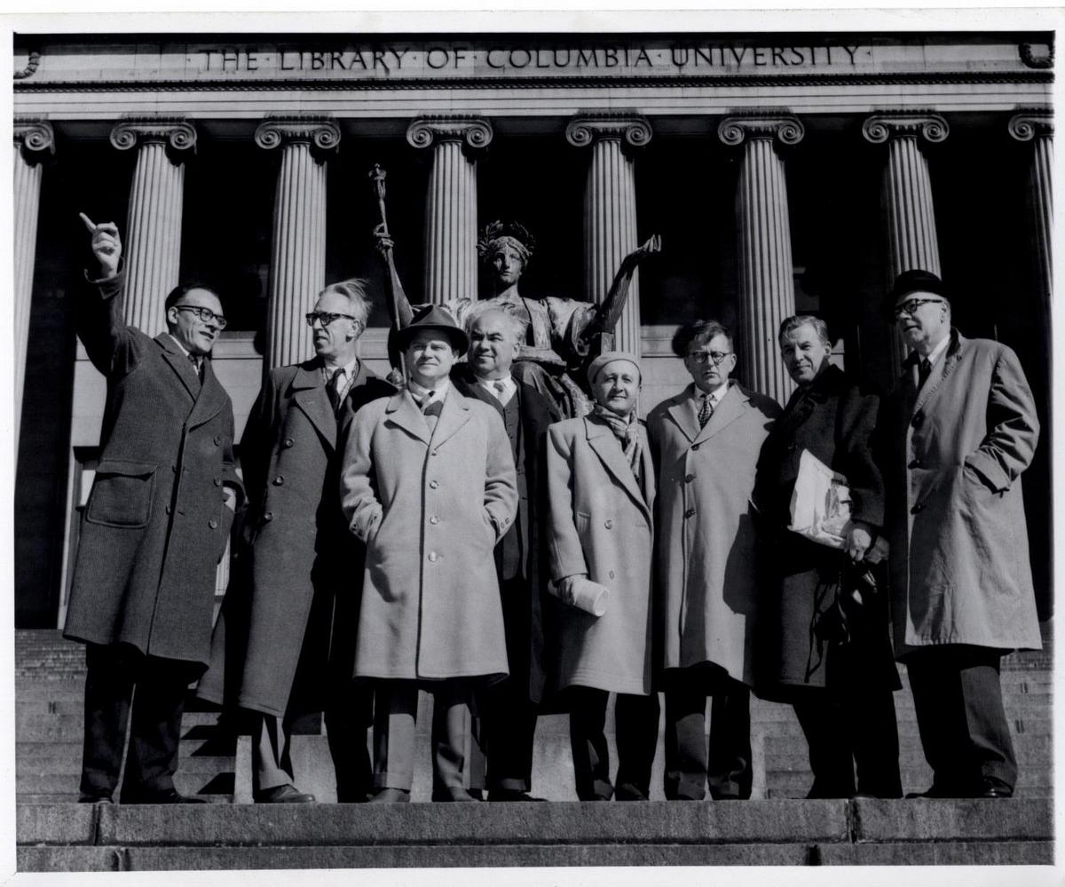 Ussachevsky and Delegation of Russian Composers