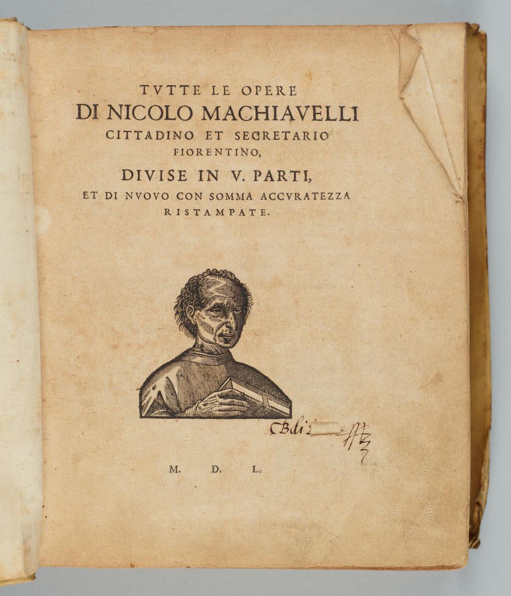 Tvtte le opere di Nicolo Machiavelli