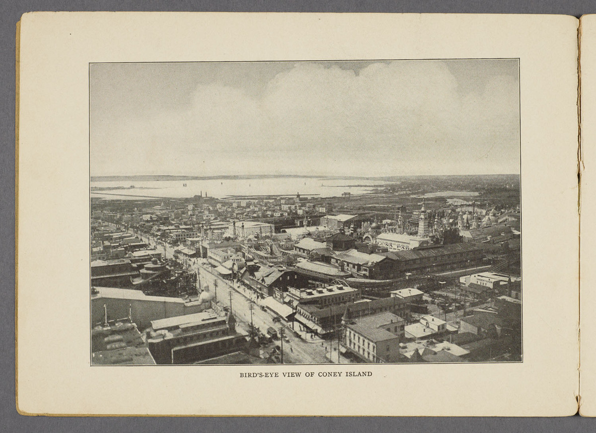 Glimpses of the new Coney Island : America's most popular pleasure resort; reproduced from best and latest photographs. Bird's-eye view of Coney Island