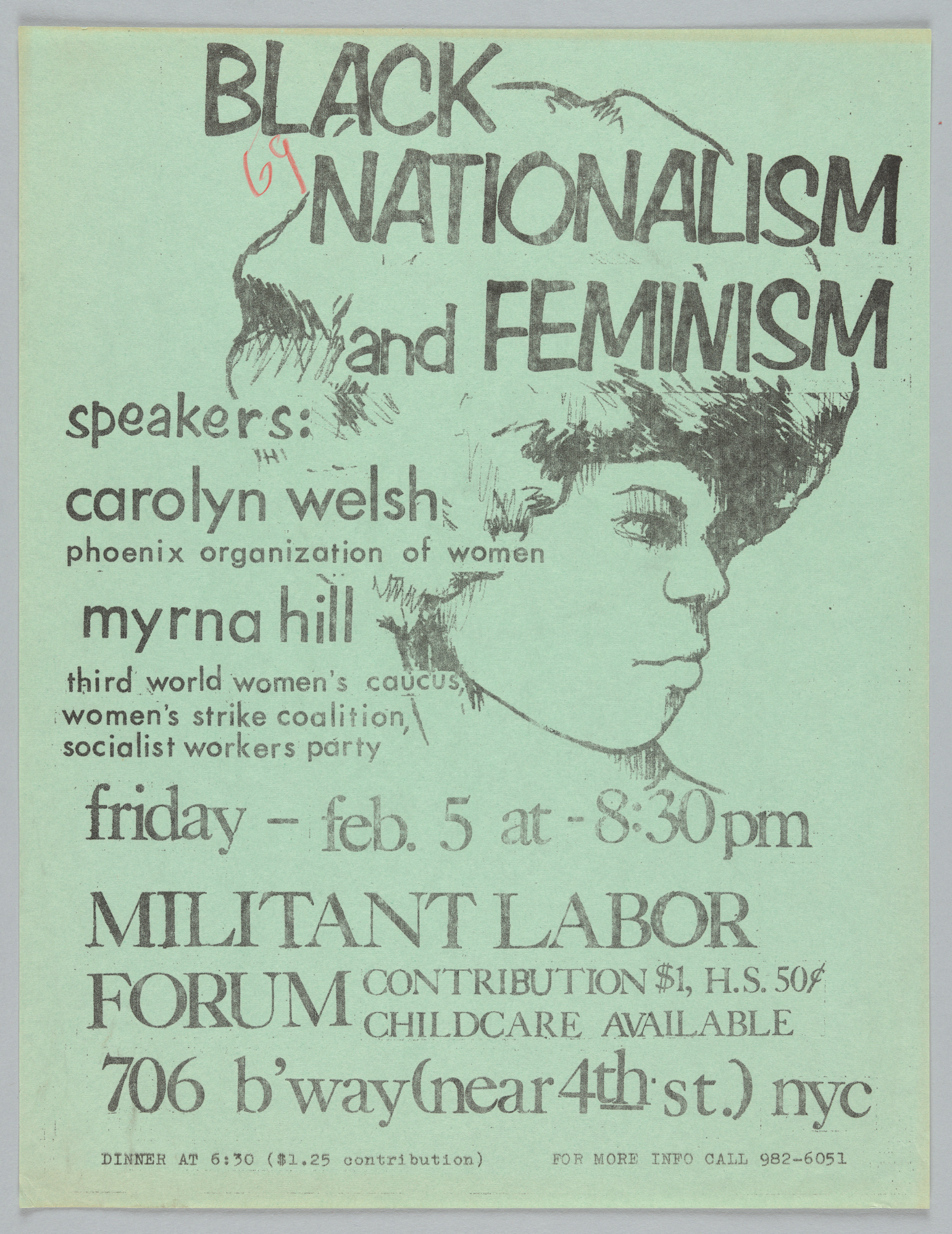 Black Nationalism and Feminism Poster