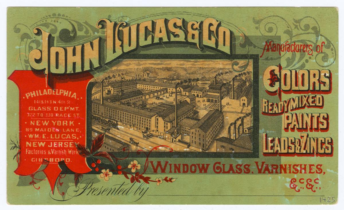 John Lucas & Co. Recto of cardstock