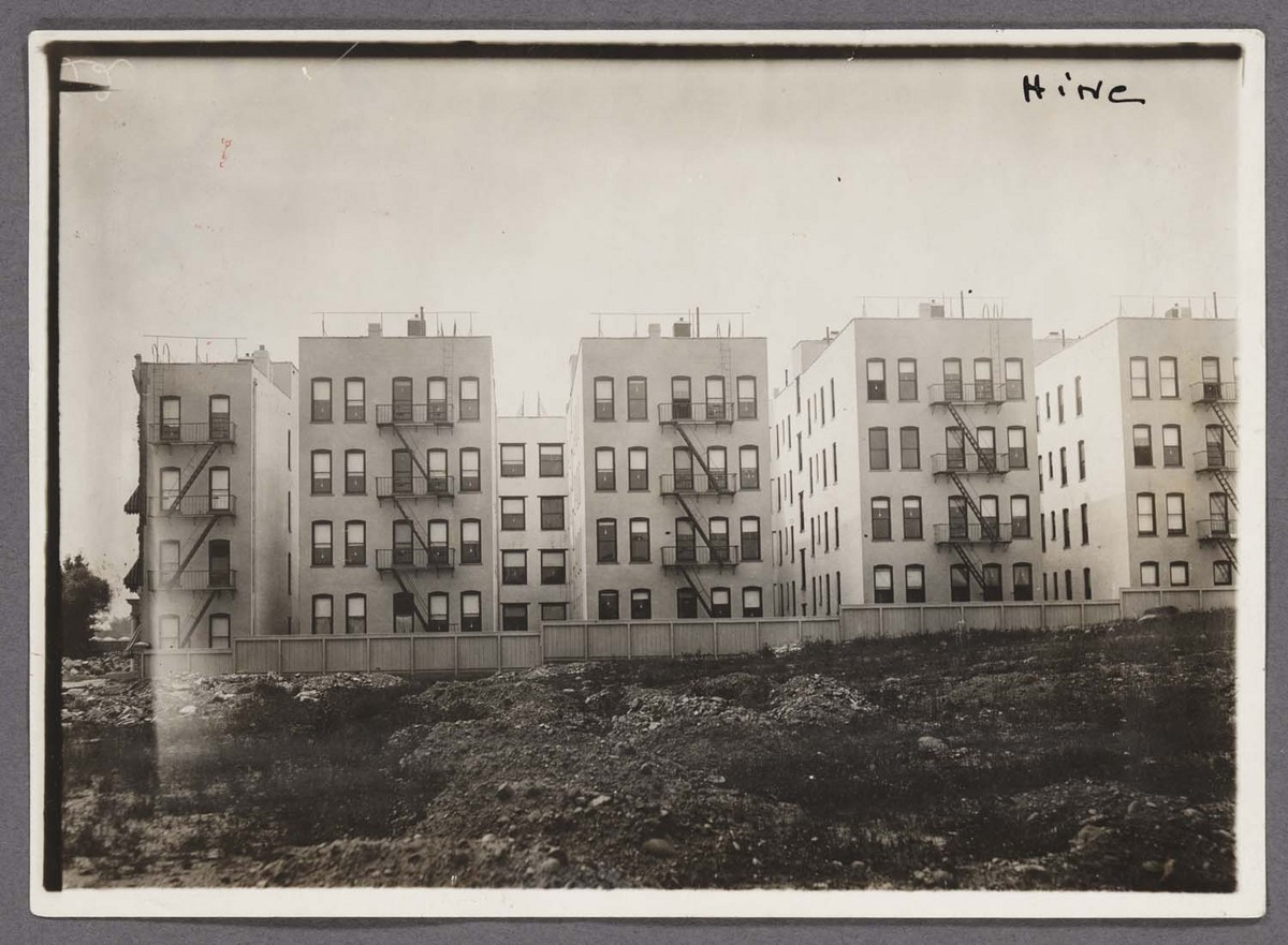 """Rearview of """"New Law"""" Tenement"""
