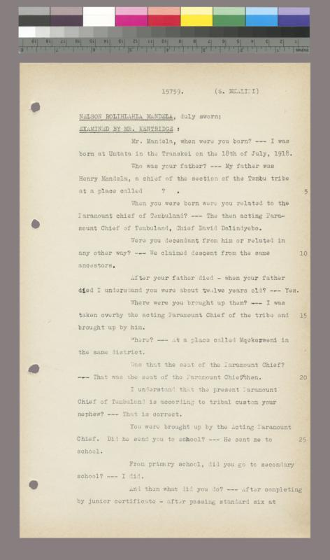 South African treason trial: R. v. Adams and others