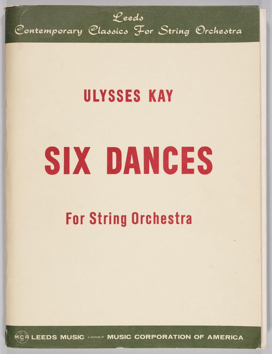 Six Dances, cover