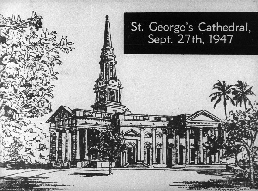 Church of South India is Born. Scene 63: St. George's Cathedral, September 27, 1947