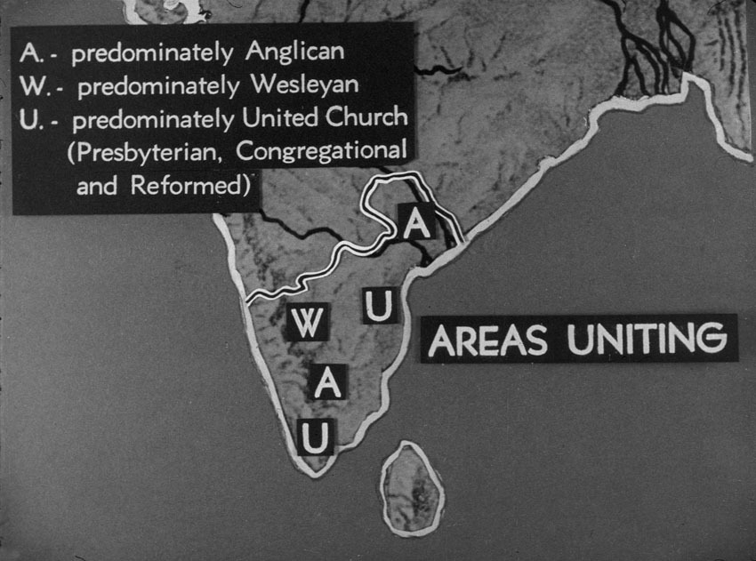 Church of South India is Born. Scene 48: map of church areas