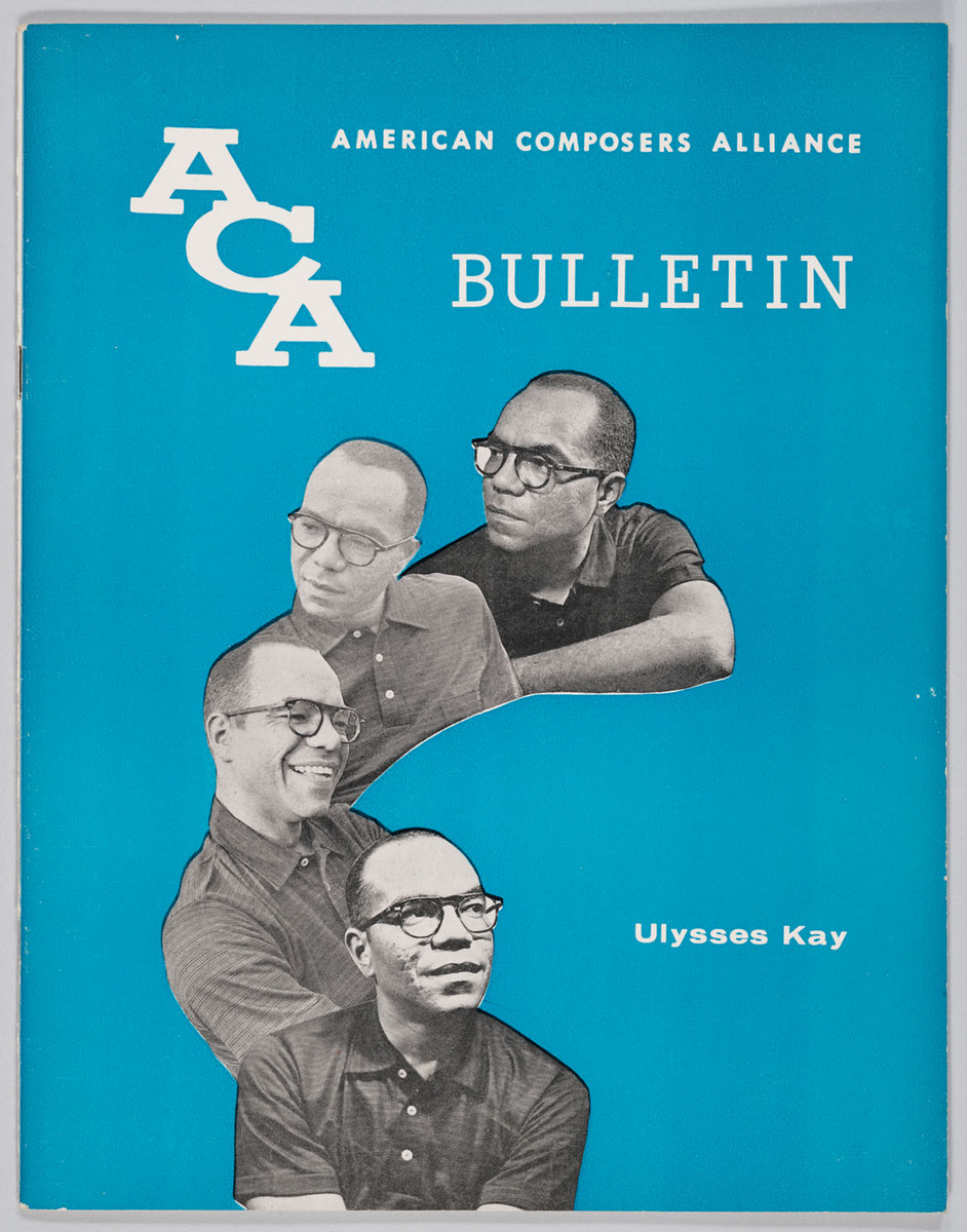 American Composers Alliance Bulletin: Ulysses Kay, cover