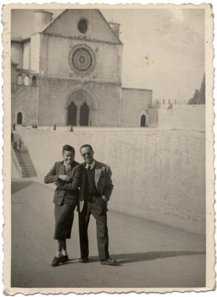 Ulysses and Barbara Kay in Assisi