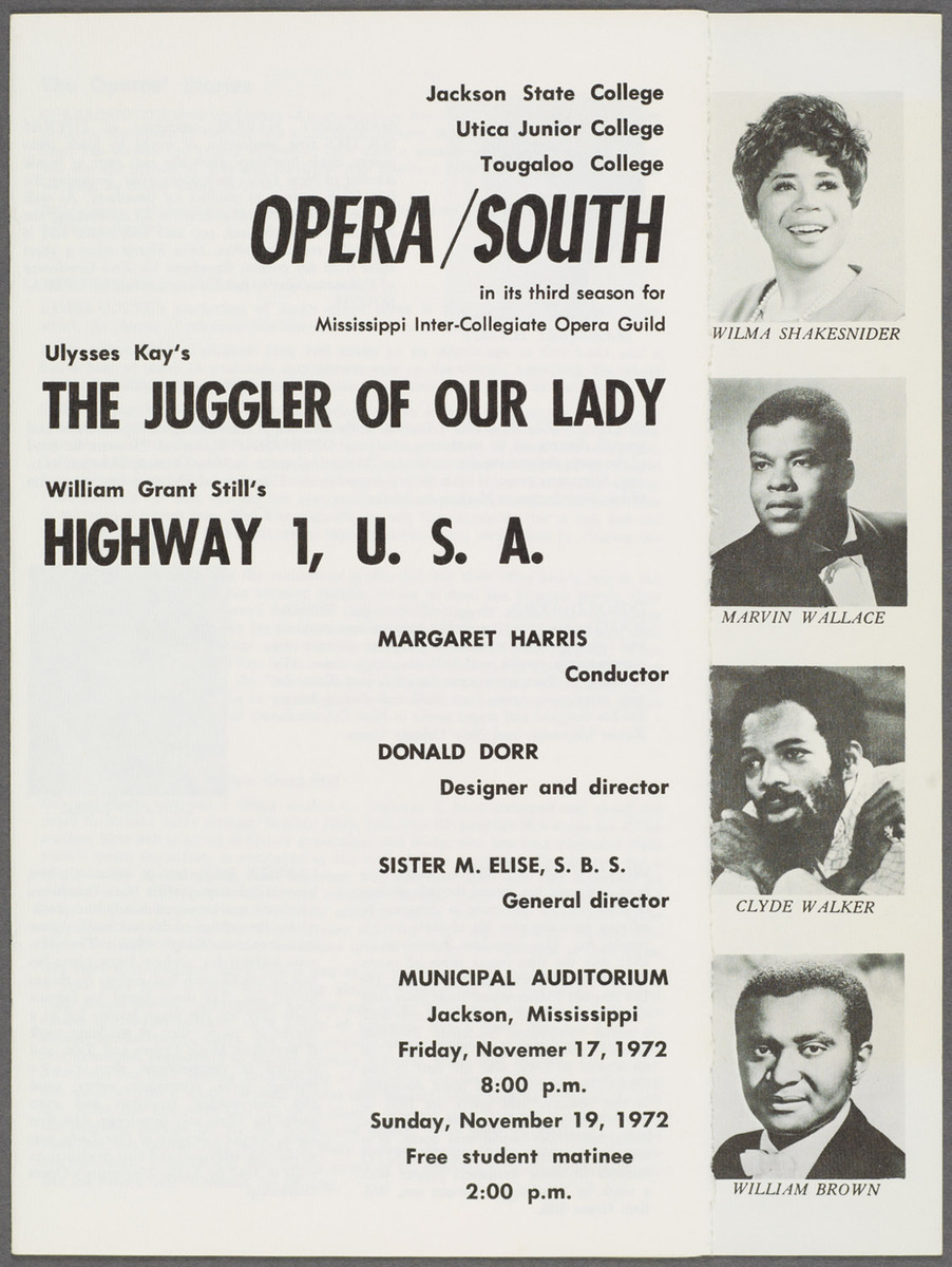 Opera/South third season program, front cover