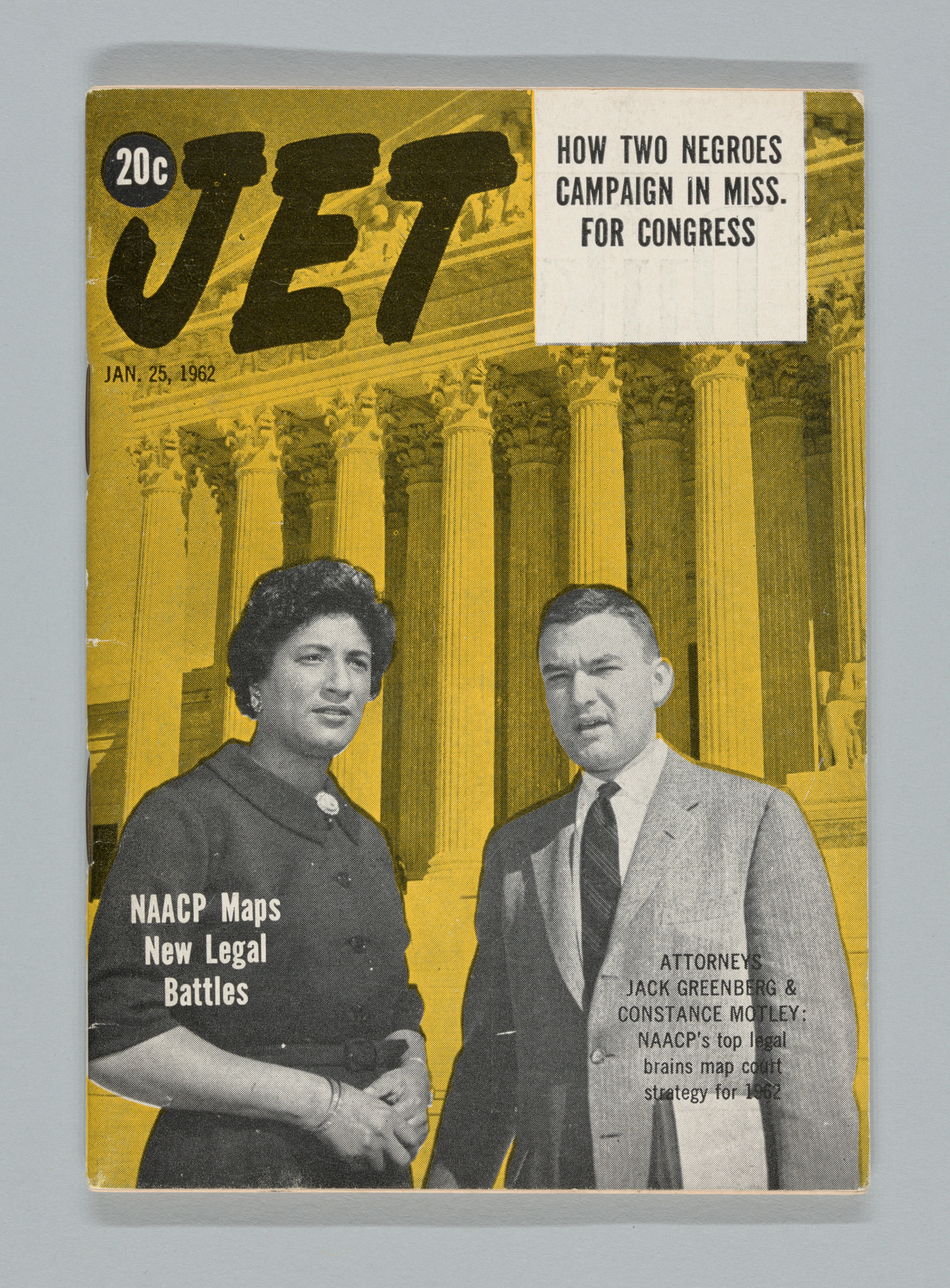 Jet Magazine, Jan. 25, 1962. Cover