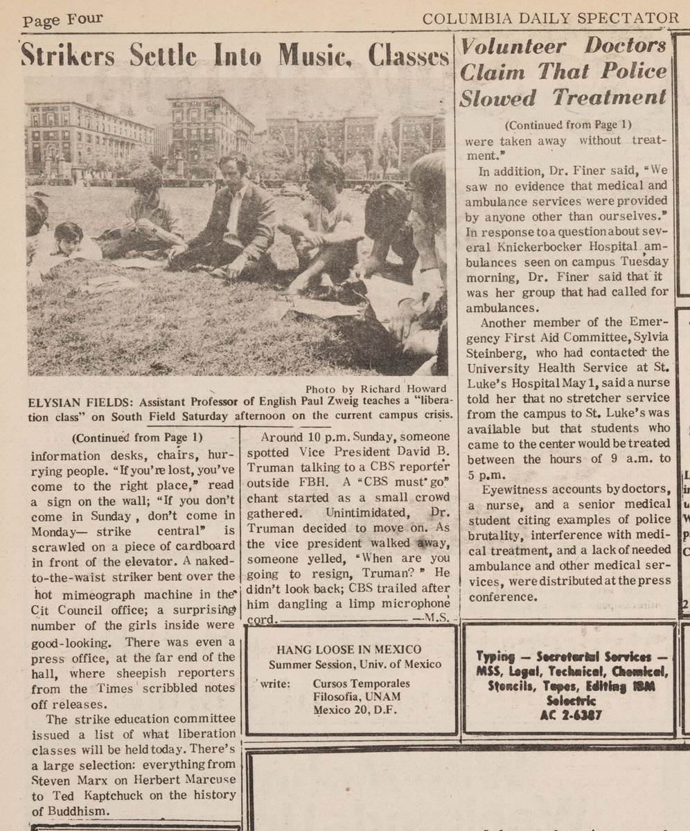 """""""Strike Activities Attract Crowds"""", p.1 and 4"""