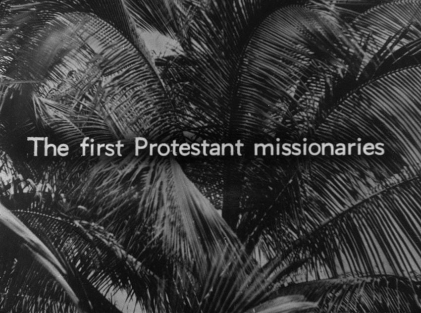 Church of South India is Born. Scene 27: The first Protestant missionaries