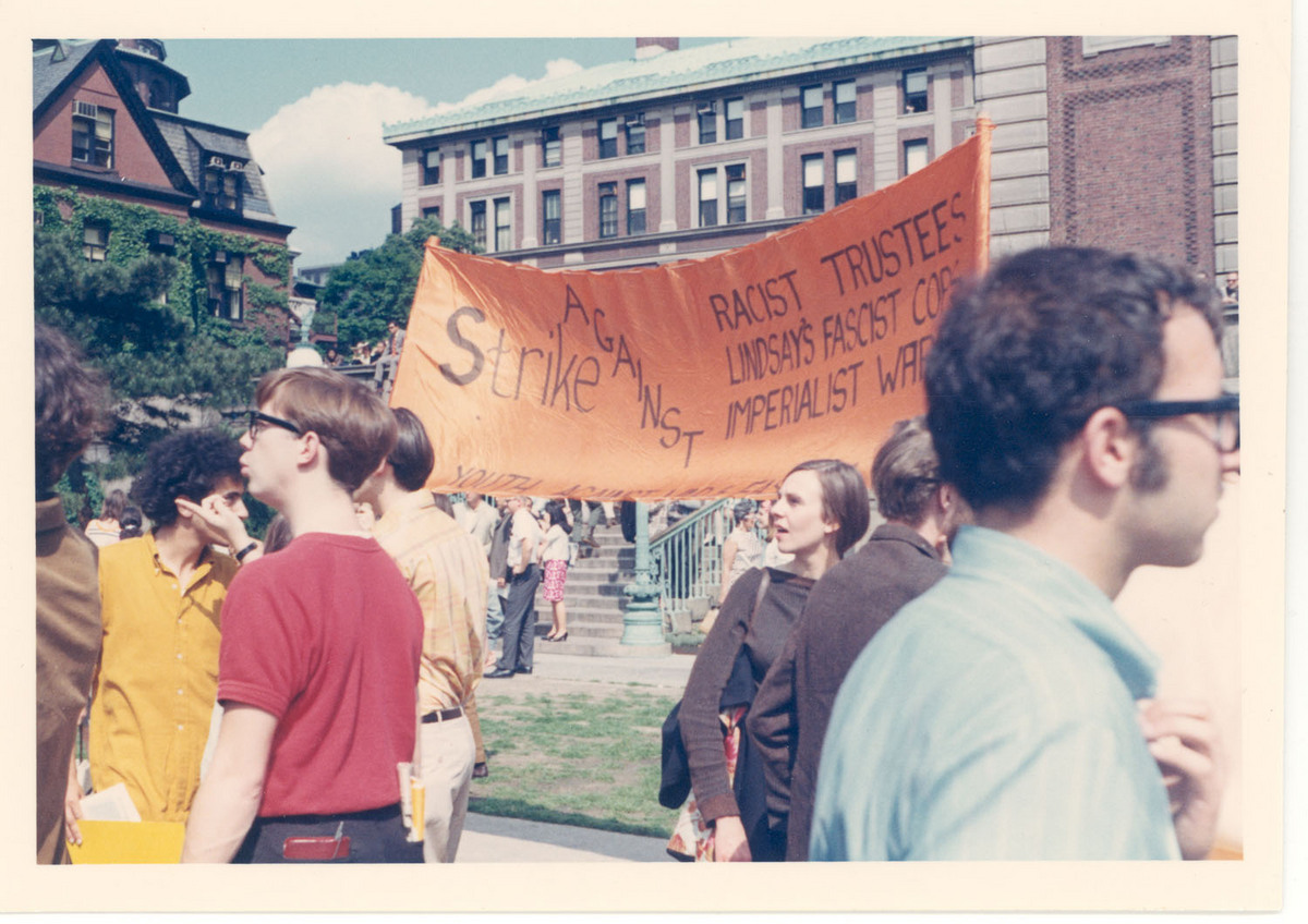 1968 Counter Commencement - Orange Banner<br />