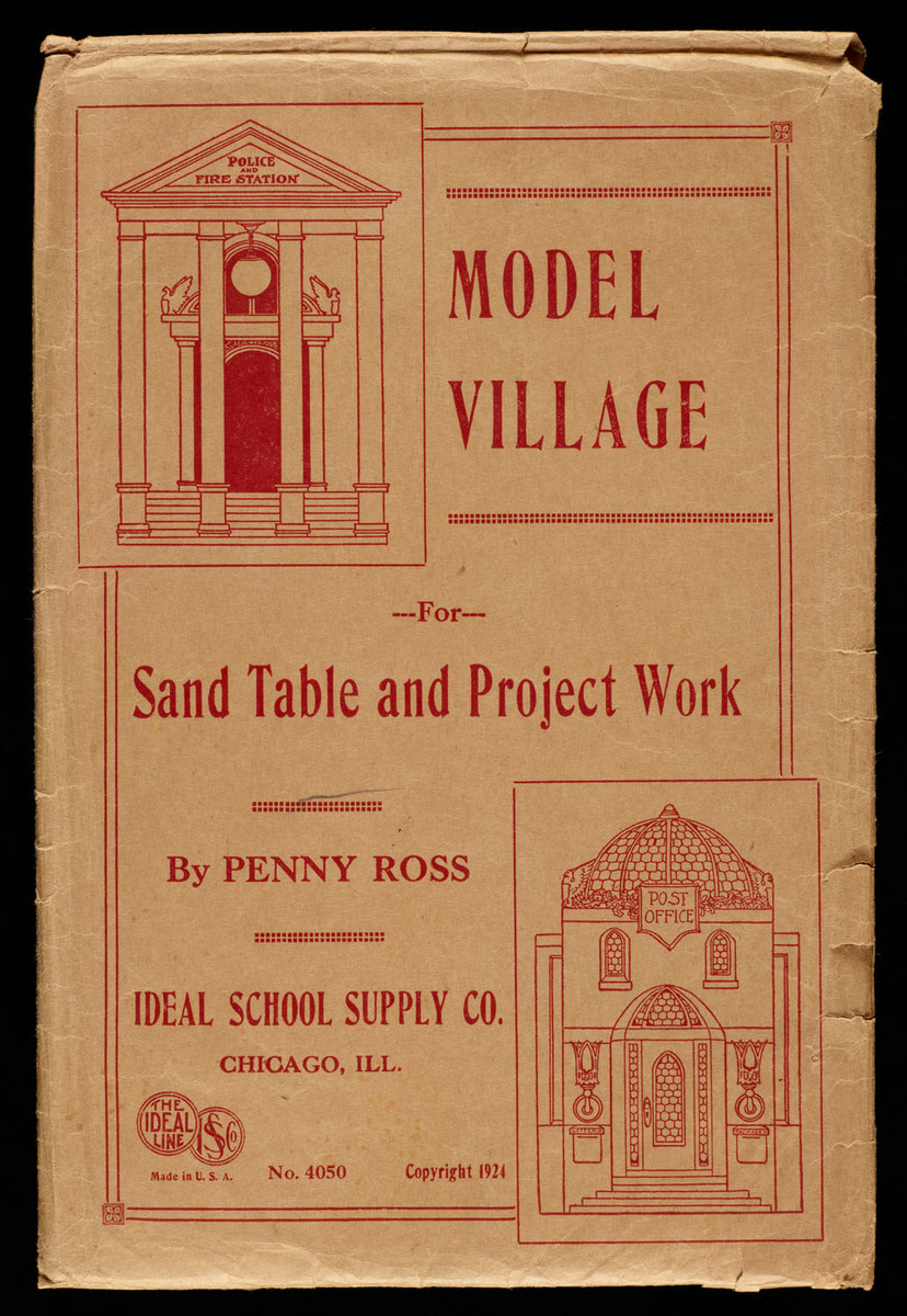 Model village for sand table and project work. View of cover