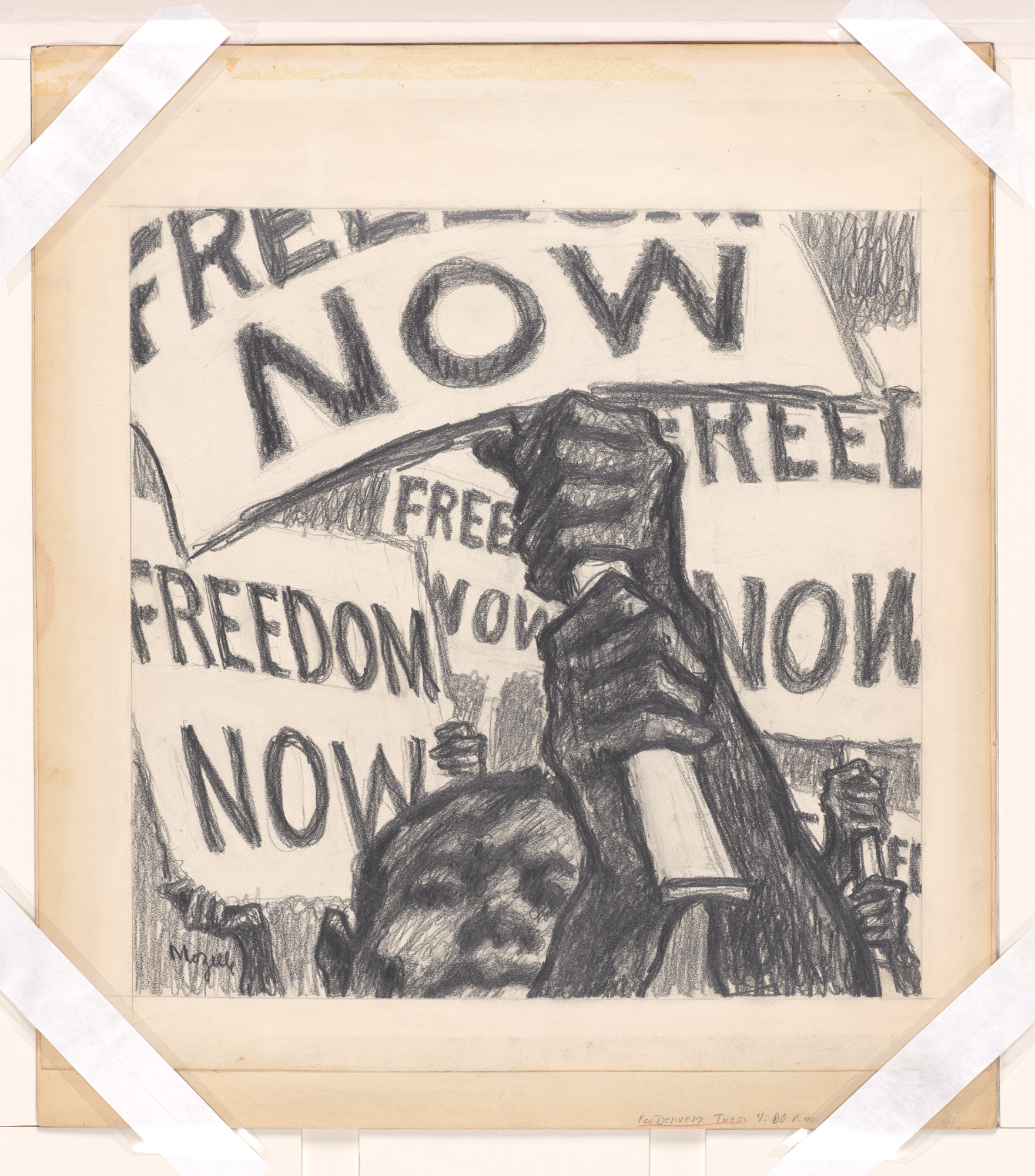 """""""Freedom Now"""" Drawing"""