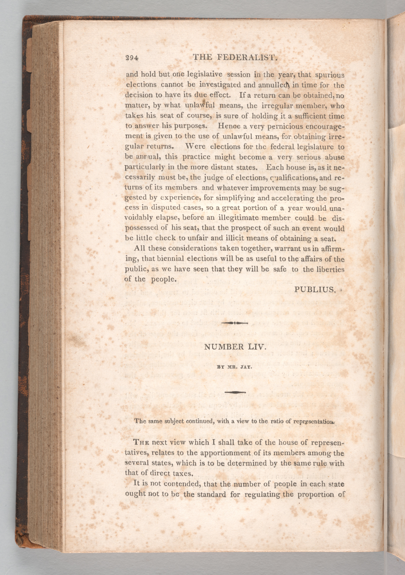 The Federalist , Page 294