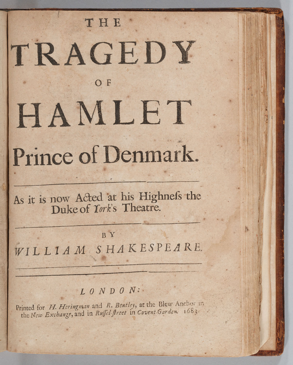 Tragedy of Hamlet Prince of Denmark, Title page