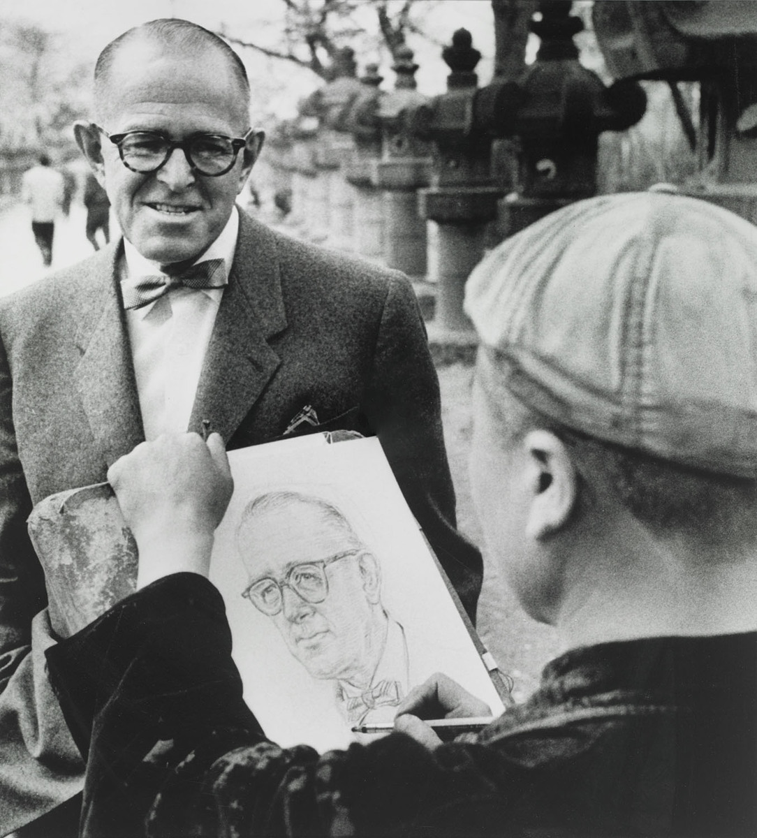 Starr in China with Caricature