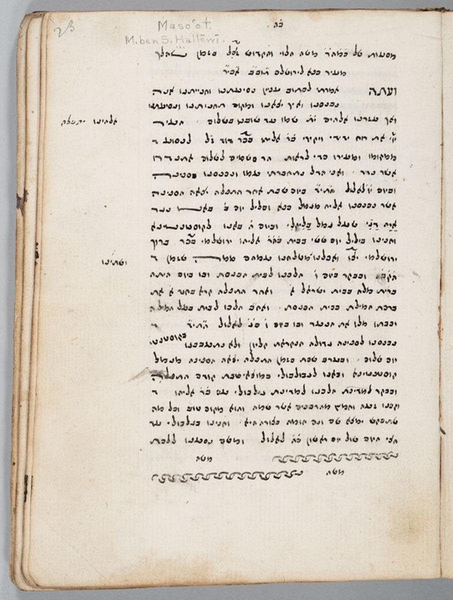 Masaʻot shel Moshe ha-Leṿi: bi-zeman she-halakh me-ʻir Kafa li-Yerushalayim. 23r