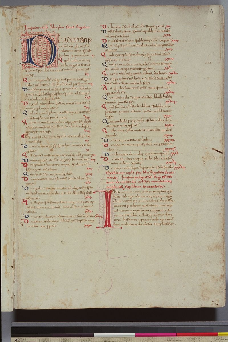 f4 of Plimpton MS 047-De civitate dei