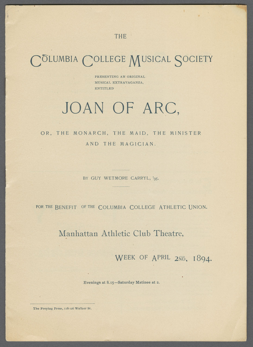 Joan of Arc, or, The monarch, the maid, the minister and the magician. Title page