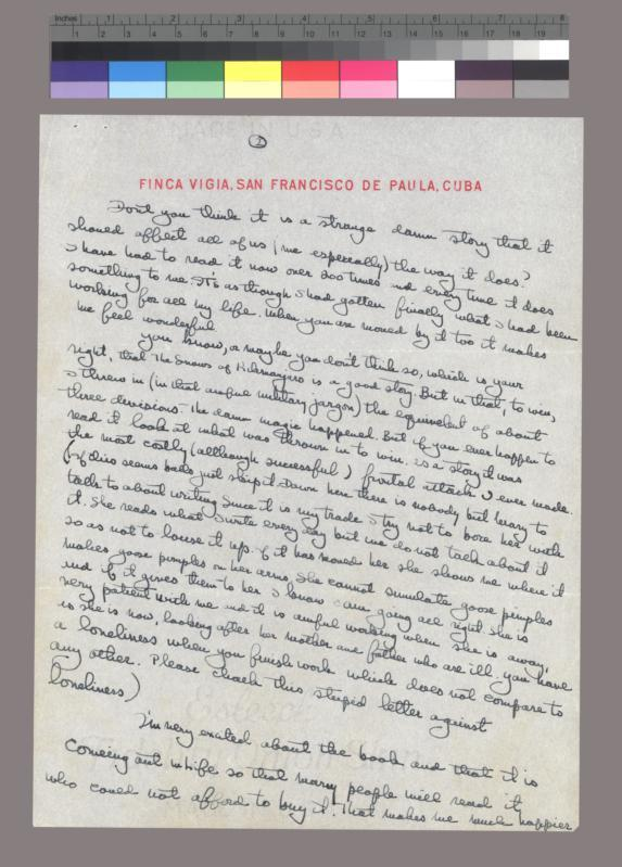 Autograph letter, signed to Daniel Longwell