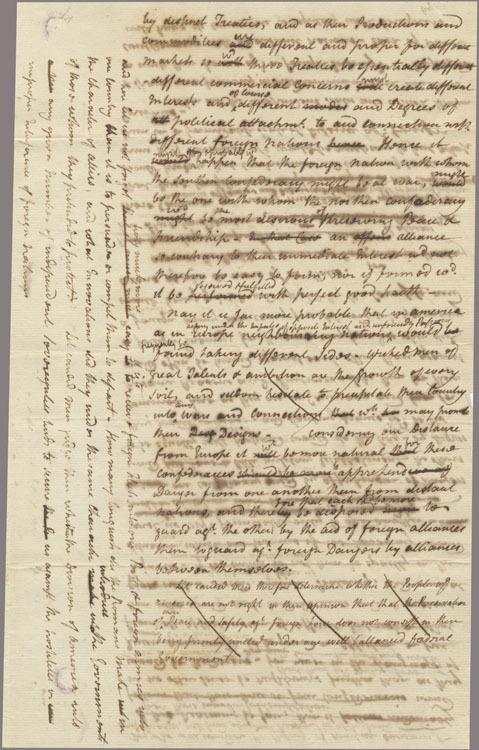 Federalist #5 manuscript