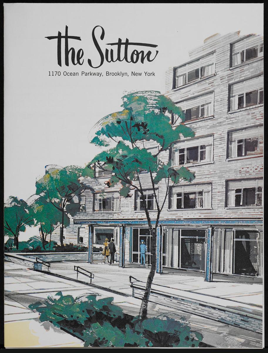 Sutton, 1170 Ocean Parkway, Brooklyn, New York. Cover of brochure