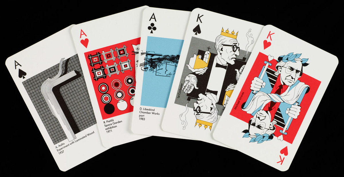 Play architecture. View with cards fanned out